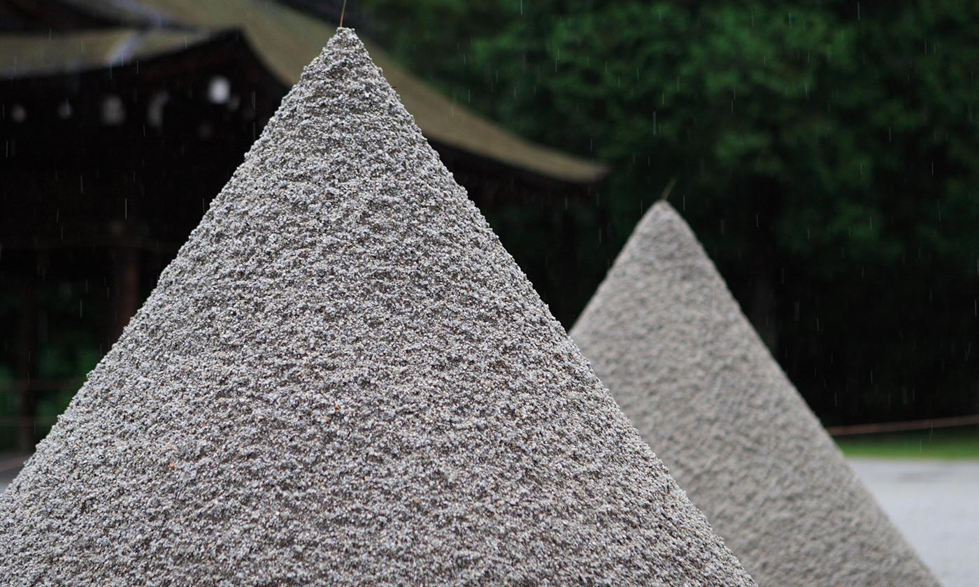 A heap of sand.